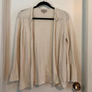 Ann Taylor Loft (outlet) open cardigan - White SP